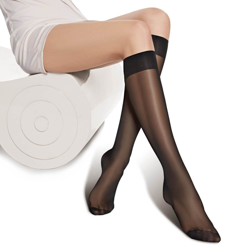 12 Pairs Women's Ultra-Soft Knee High Socks 20D - Nikkiaz