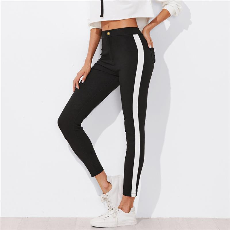 Contrast Panel Side Skinny Jean