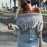 Casual Slash Neck Sweater - Nikkiaz
