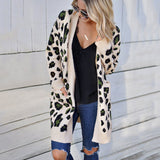 New Long Sleeve Leopard Cardigan