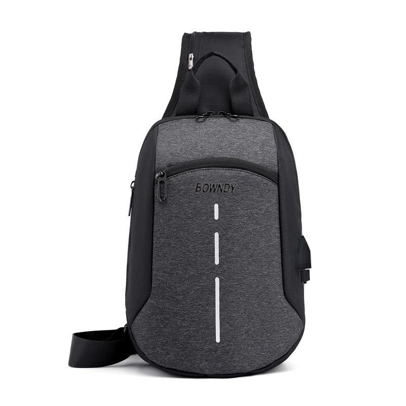 BOWNDY  Men's Chest Bag Cross-Border Reflective School Shoulder Bag Diagonal Package Messenger Travel Bag Men