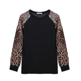 Zerbala Women's Casual Long Sleeves Shirt with Leopard Print