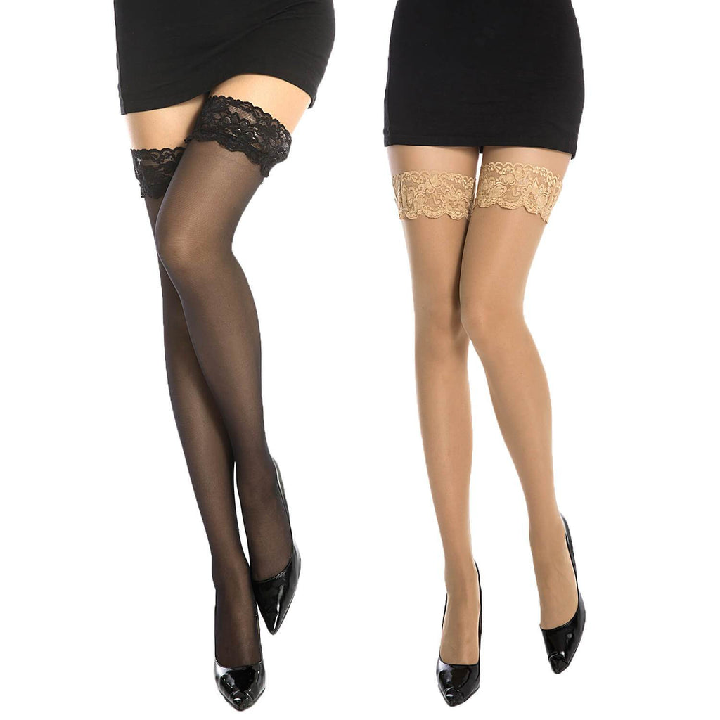 Lace High Stocking 2 Pack