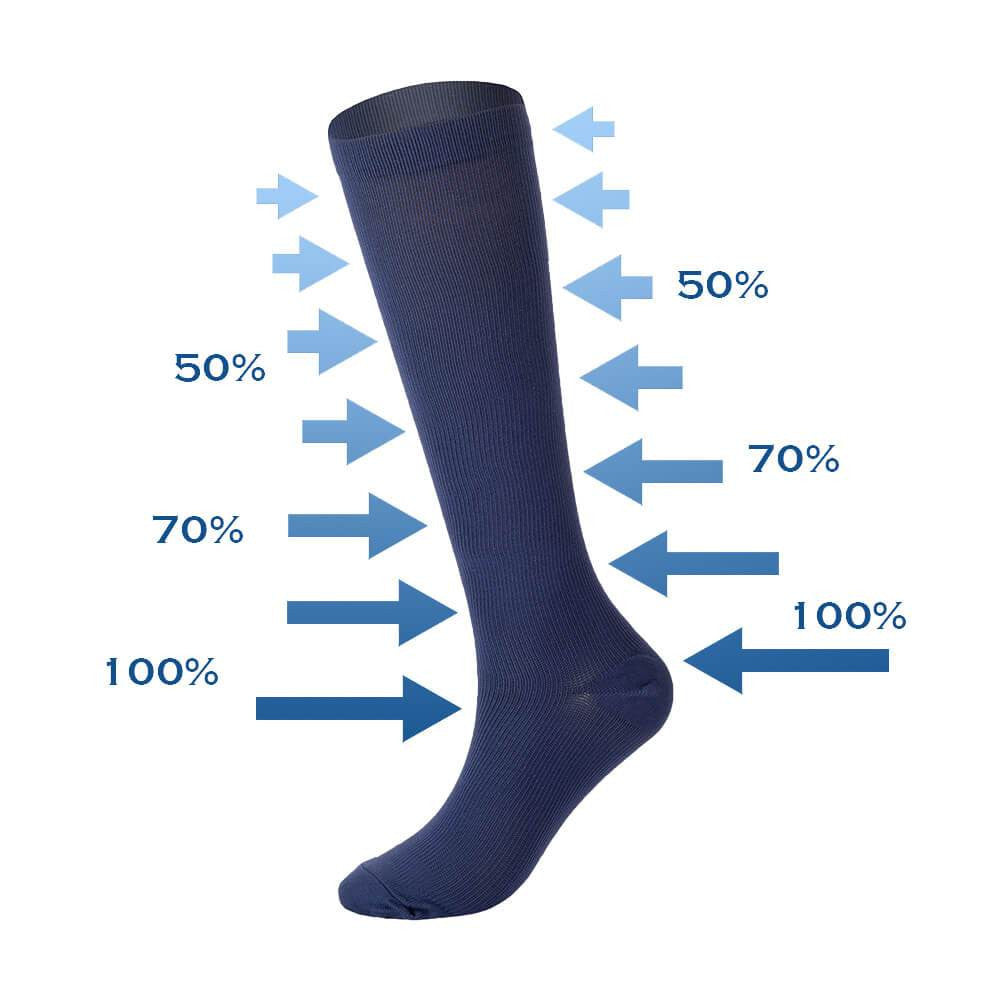 Knee High Compression Socks 6 Pairs - Nikkiaz