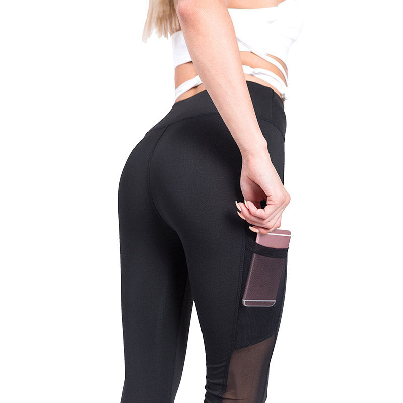 High Waist Work Out Legging with Pocket Breathable - Nikkiaz