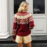 Vintage Ladies Pullover Christmas Sweater - Nikkiaz