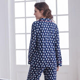 Cotton Cardigan Casual Pajama Set - Nikkiaz