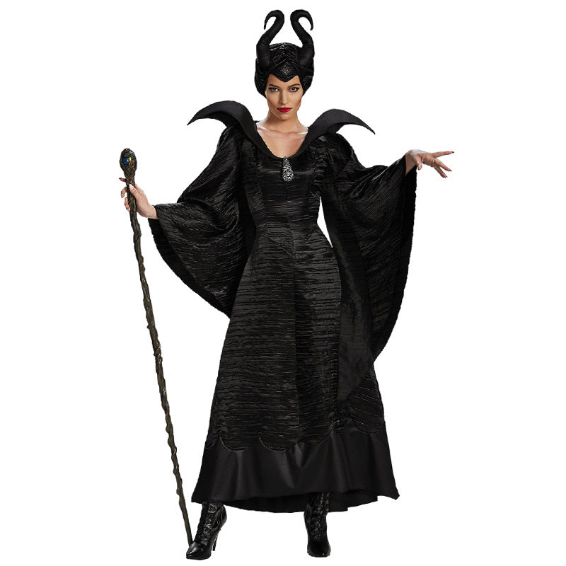 Maleficent's Costume Adult Women Halloween - Nikkiaz