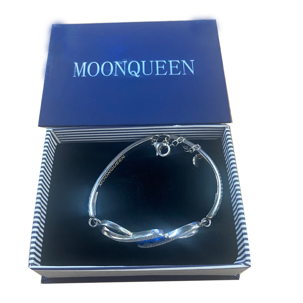 MOONQUEEN Gorgeous Oval and Round 7 Inch Sparkling Cubic Zirconia CZ Tennis Bracelet
