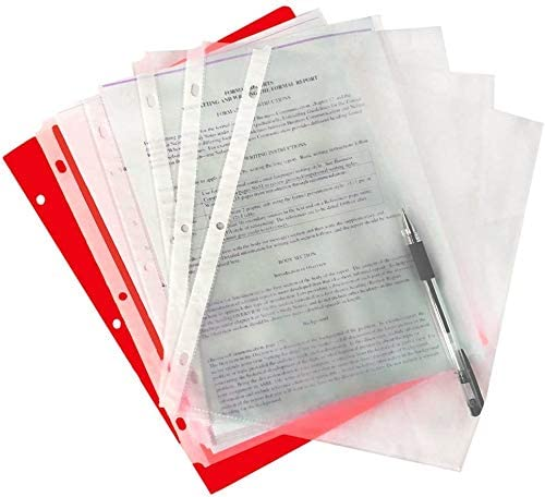 WEBSUN Sheet Protectors, 50 Clear Heavyweight Poly Sheet Protectors Page Protectors for Documents and Photos