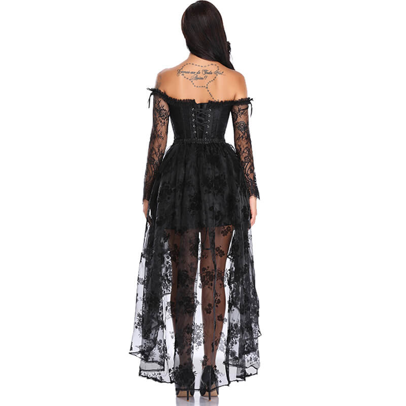 Corset Sexy Gothic Bustier Halloween Palace Style - Nikkiaz