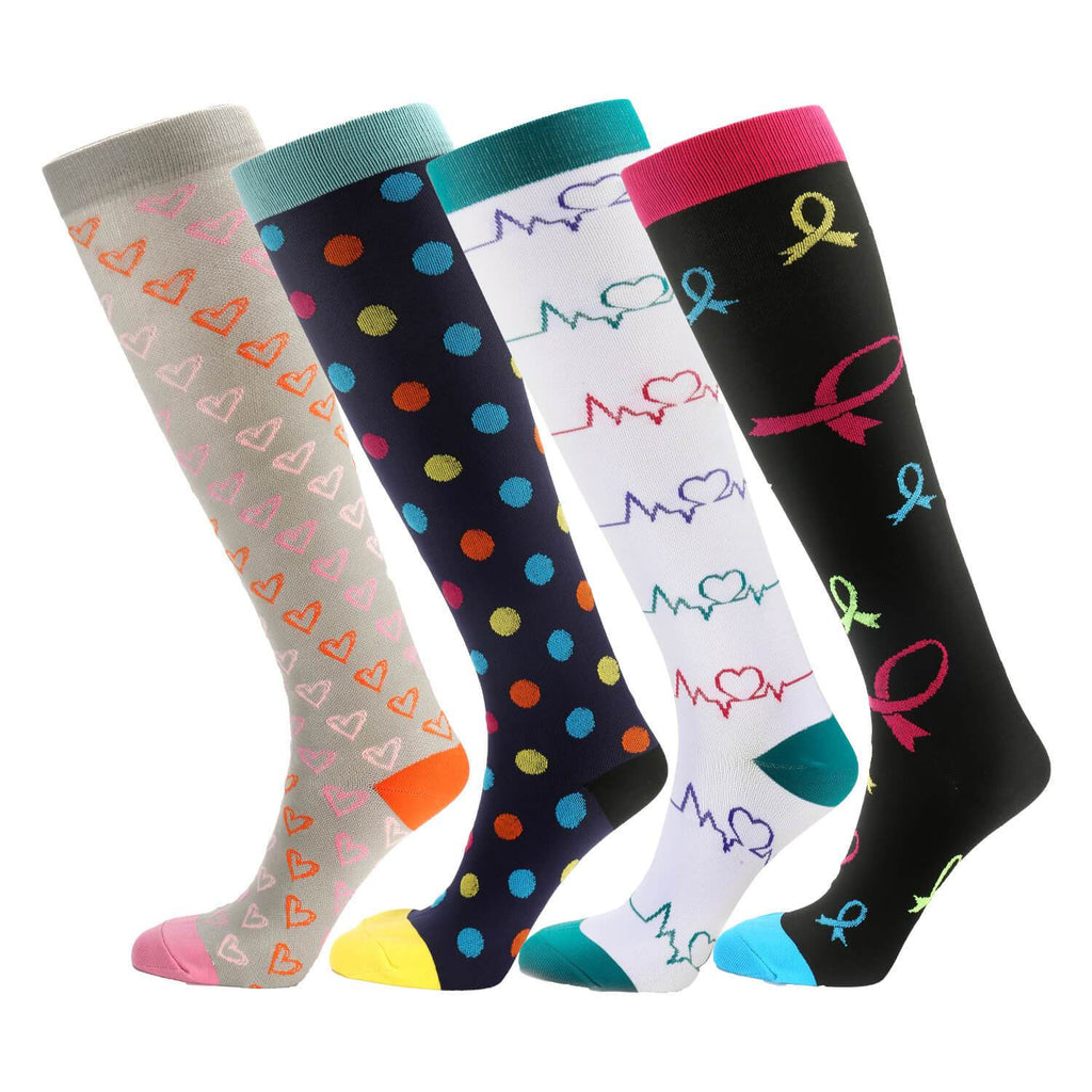 Knee High Compression Socks 15-20mmHg - Nikkiaz