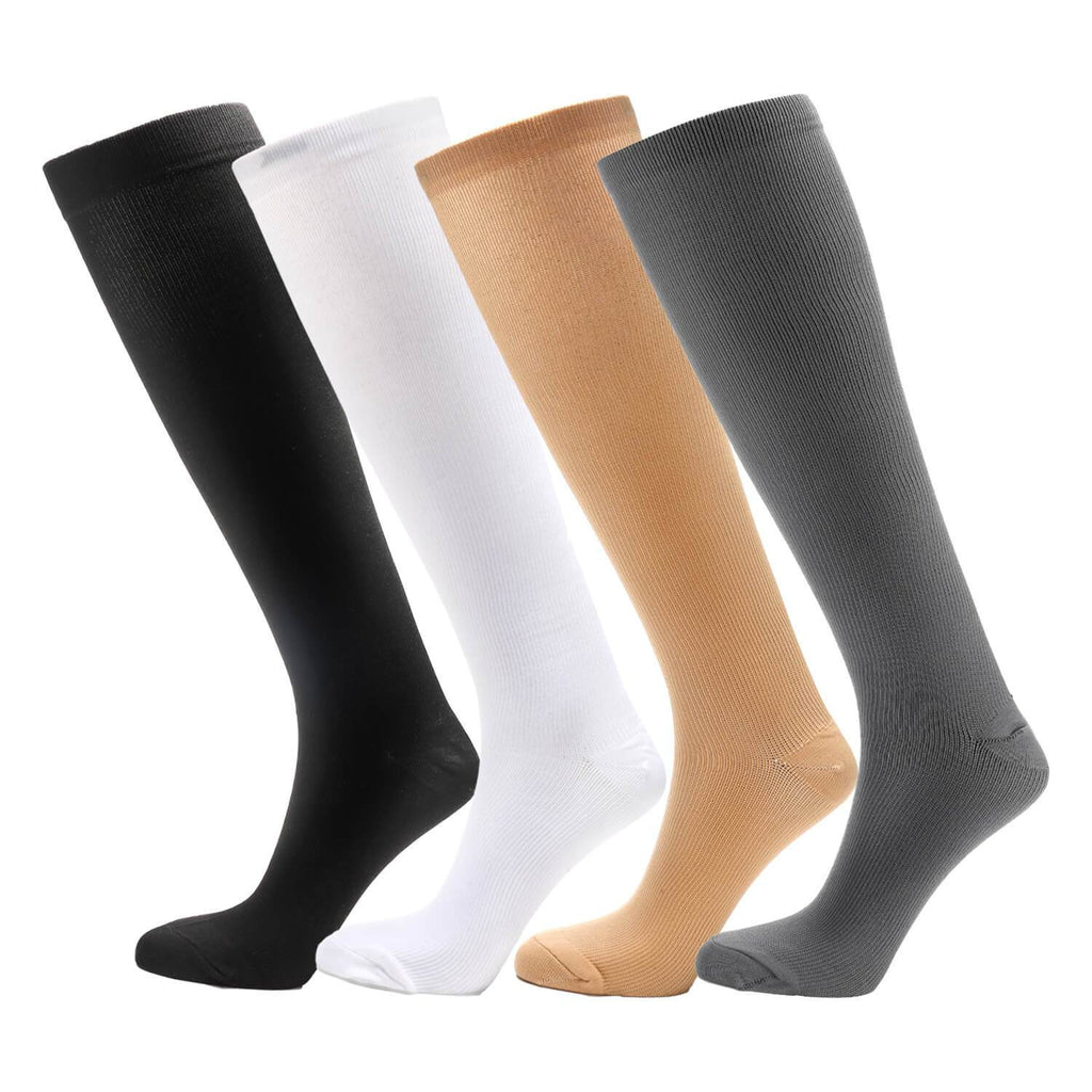 Soothing graduated Compression Socks 4 Pairs - Nikkiaz