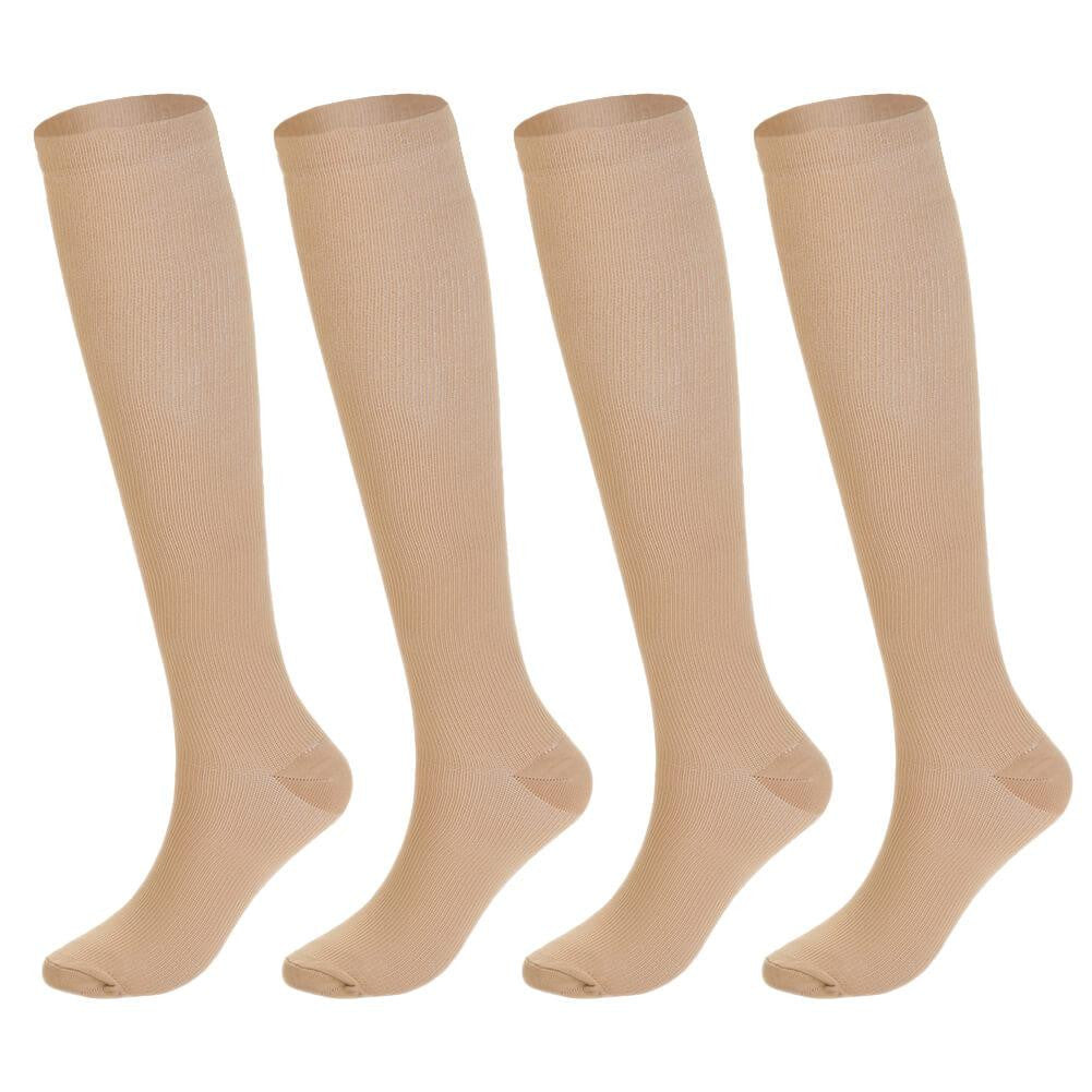 Knee High Compression Socks 4 Pairs - Nikkiaz