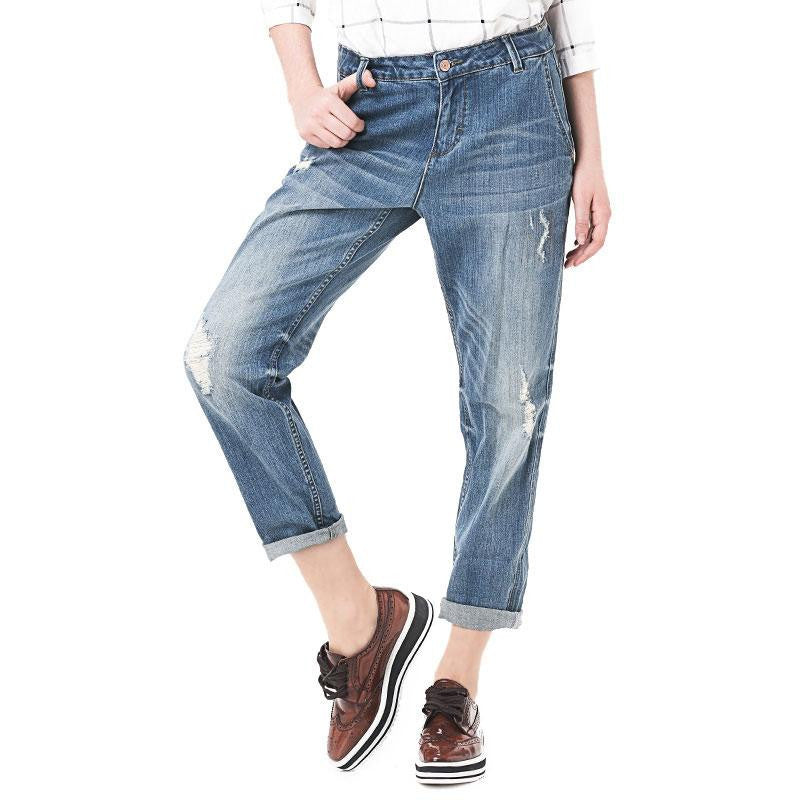 Harem Ripped Hole Stretch Jeans