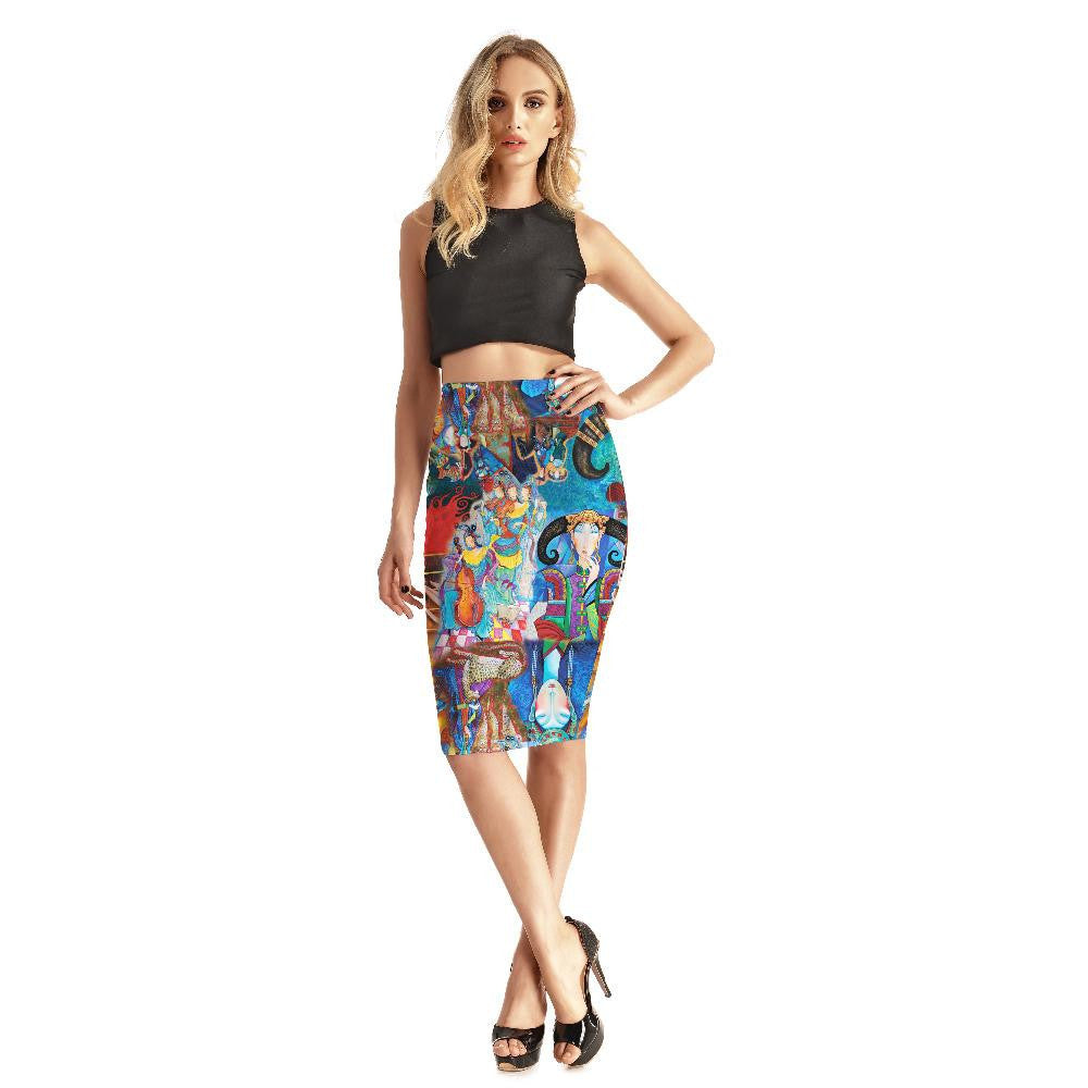 Colored murals Skirts - Nikkiaz