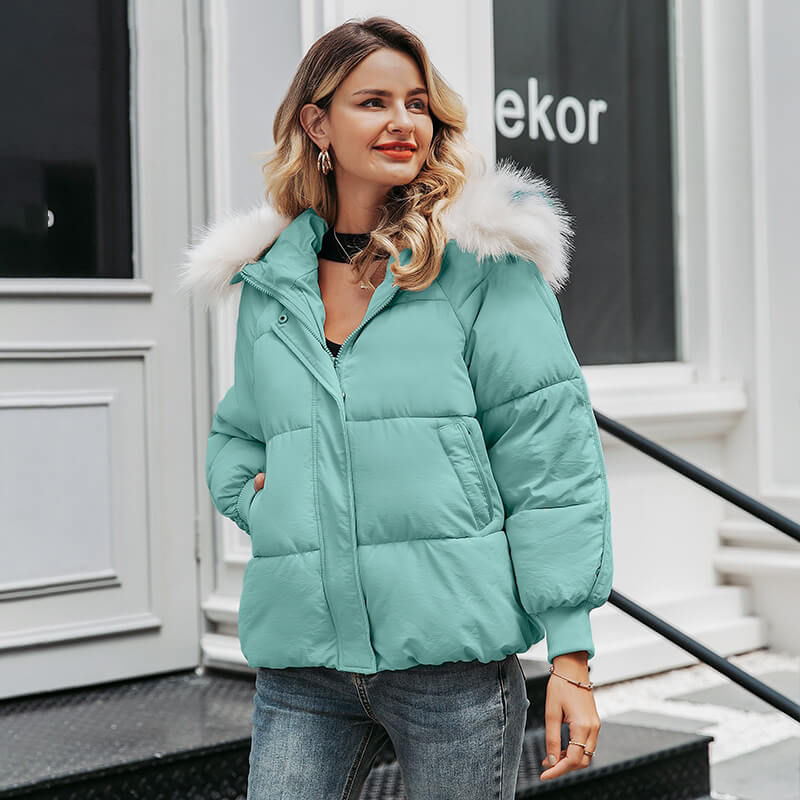 Plus size winter thick hooded parkas - Nikkiaz