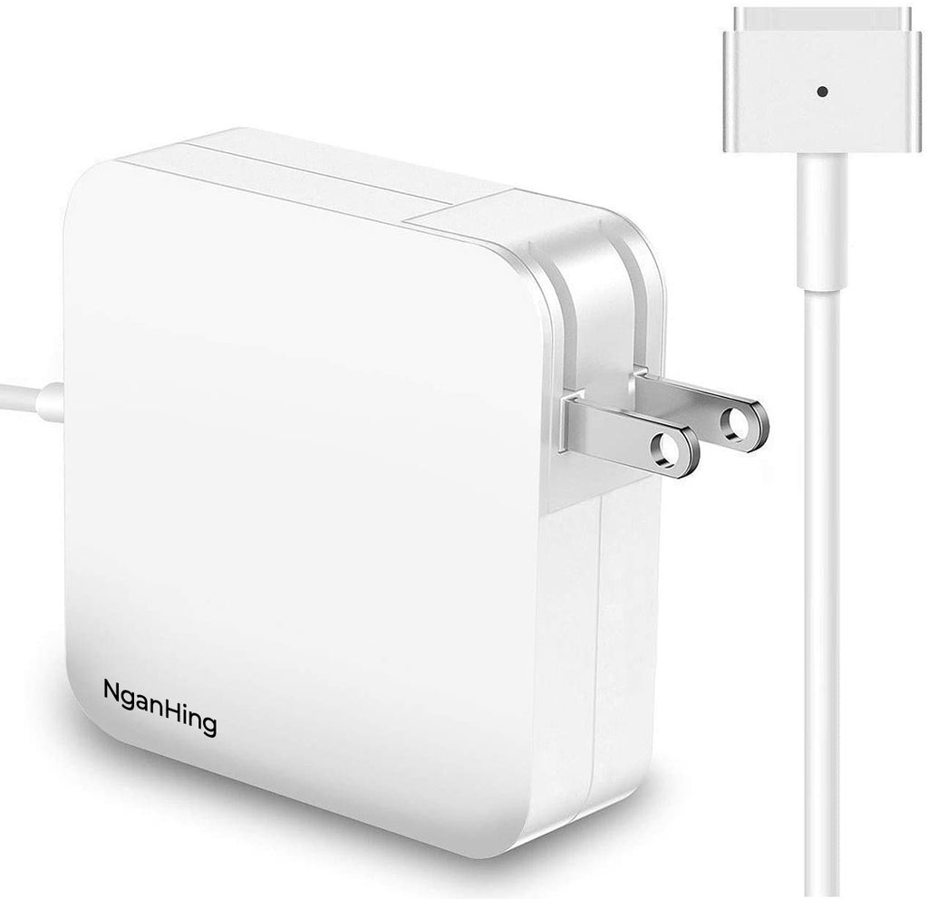 NganHing Mac Book Pro Charger, 60W T-Tip Replacement Magsafe 2 Power Adapter Laptop Charger for Mac Book Pro with 13-inch Retina Display (After Late 2012)