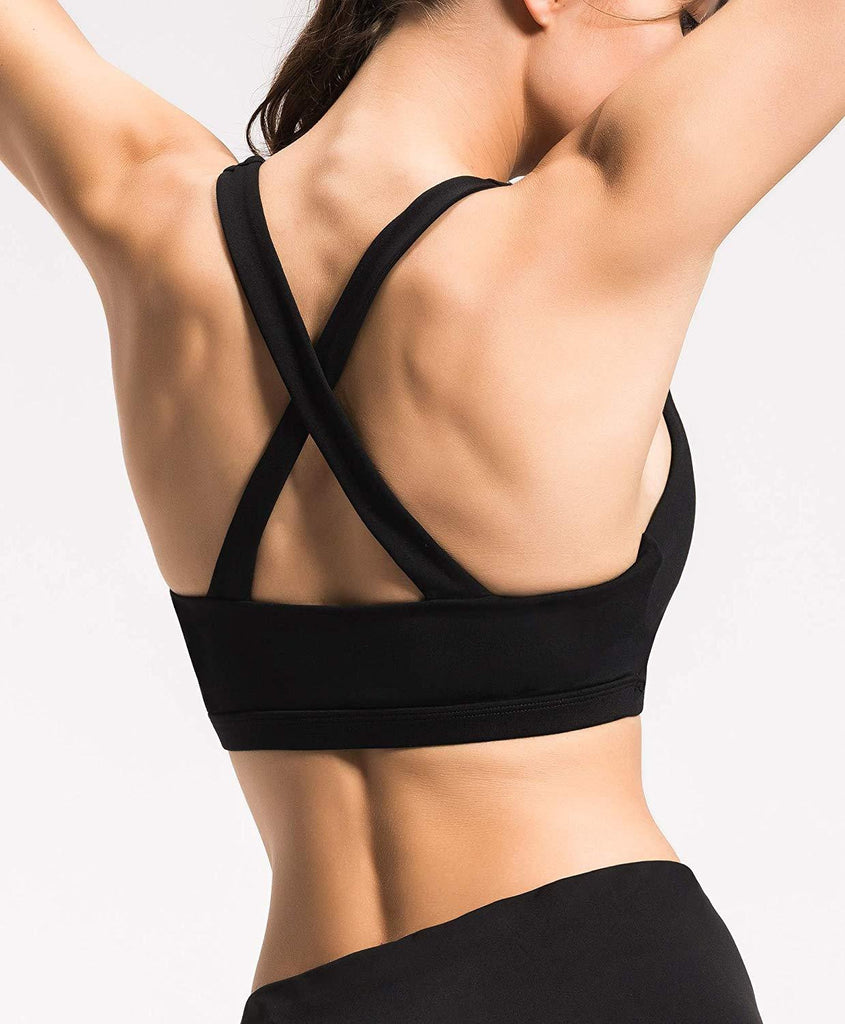 Cross Back Yoga Bra - Nikkiaz