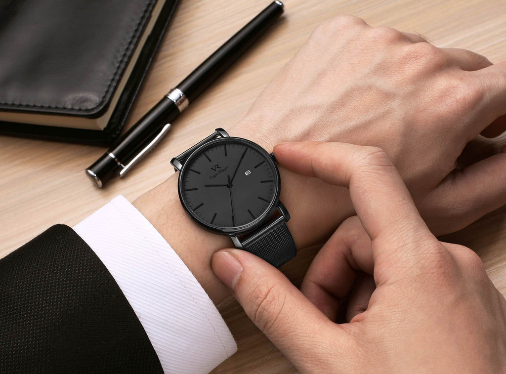 Stainless Quartz Waterproof Watch - Nikkiaz