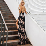 Sexy lace up halter sequin dresses - Nikkiaz