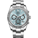 Silver Stainless Quartz Chronograph Watch