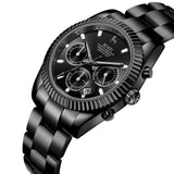 Stainless Quartz Chronograph Watch - Nikkiaz