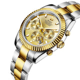 Classic Stainless Quartz Chronograph Watch - Nikkiaz