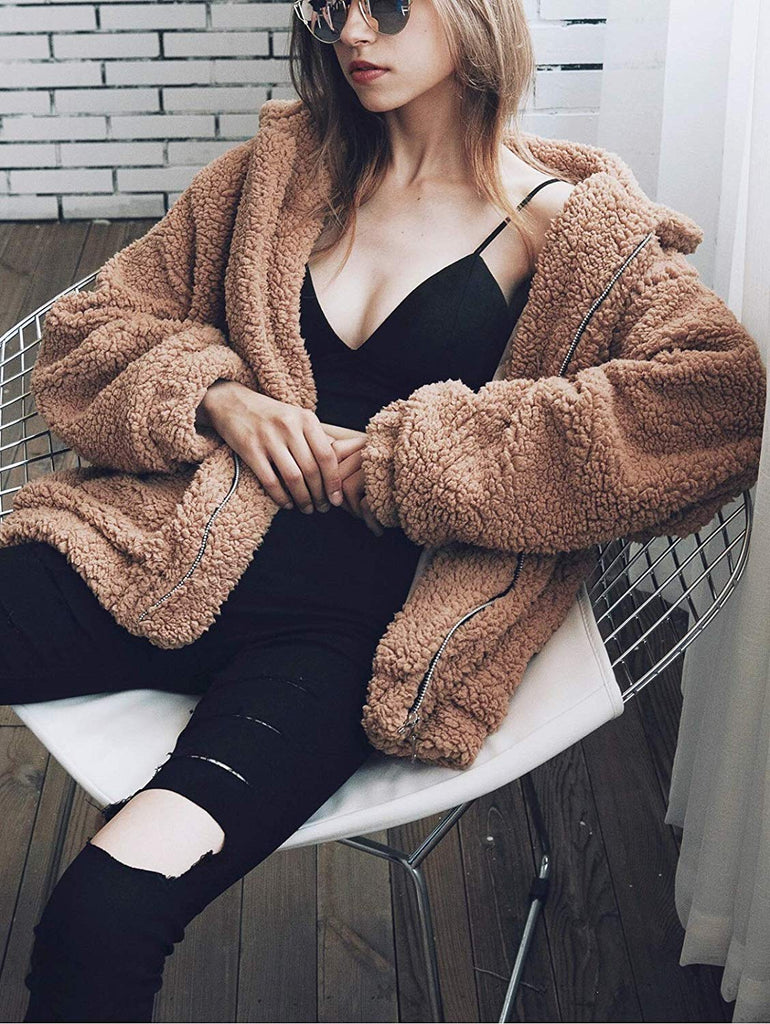 Fluffy Warm Women Coat - Nikkiaz