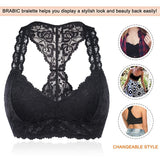 Padded Deep V Neck Crop Top Wireless Bra - Nikkiaz