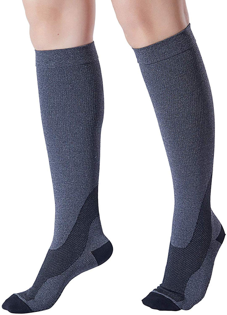 20-30 mmHg Knee High Graduated Men Women Compression Socks - Nikkiaz