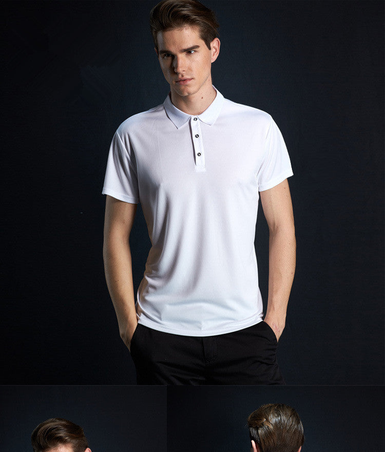 COVER STAR SCERT Men's Big Short-Sleeve Polo Shirt Black And White (M-XXXL)