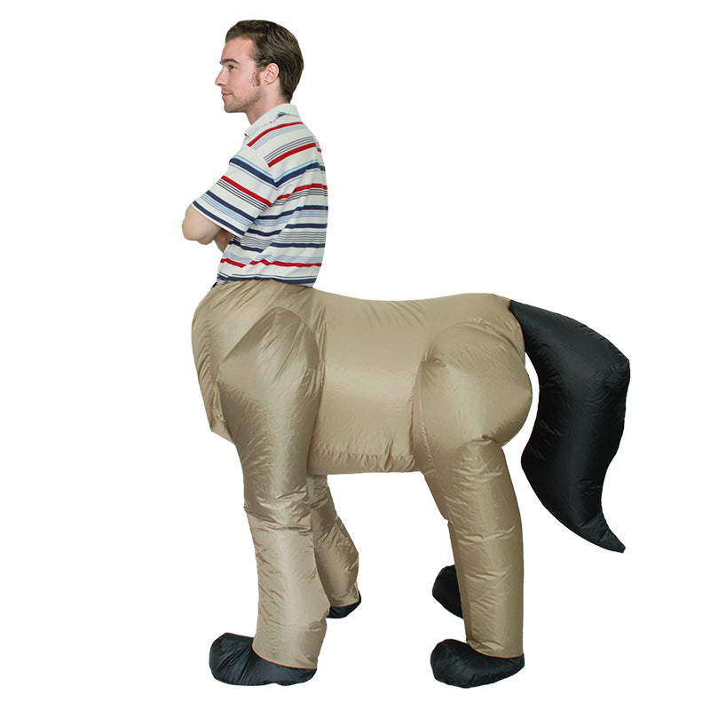 Halloween Horse Half Inflatable Costume - Nikkiaz