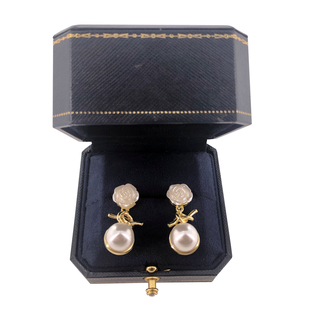 BRAYEG Pearl Earrings for Women 7-9mm Freshwater Cultured Pearl Stud Earrings