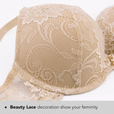 Floral Lace Lightly Padded Bra - Nikkiaz