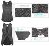 Yoga Open Back Sports Workout Tops - Nikkiaz