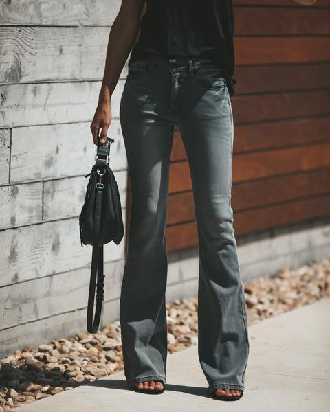 Slim Bell Bottom Jean - Nikkiaz