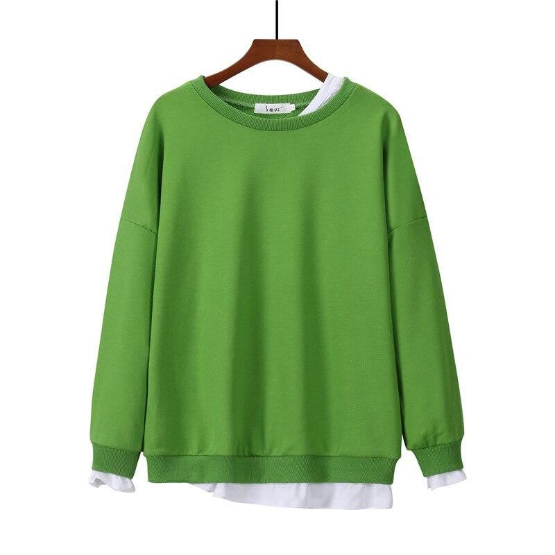 Plain Color Autumn Sweatshirt - Nikkiaz