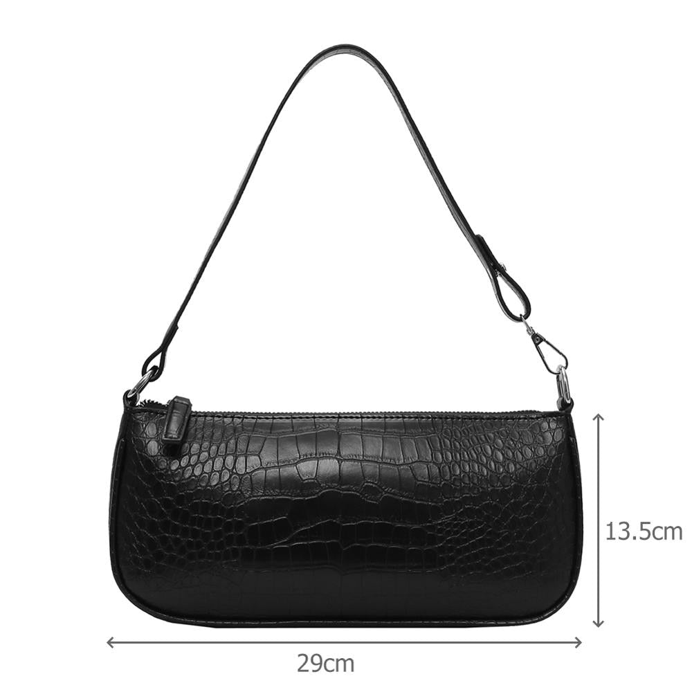 Alligator Pattern Women Messenger Handbags Casual Solid Shoulder Bags Crocodile - Nikkiaz