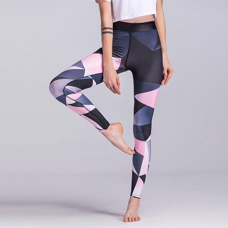 Printed Yoga Workout Pants - Nikkiaz