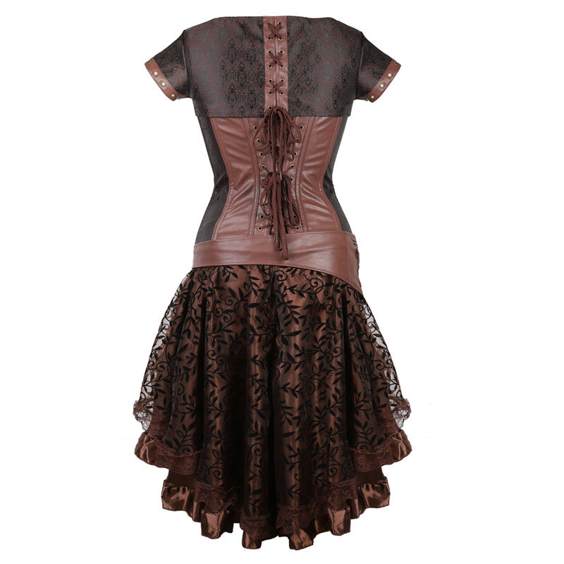 Victorian Steampunk Corset Dress - Nikkiaz