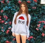 Christmas cat sweatshirt lovely cute animal hoodie girl - Nikkiaz