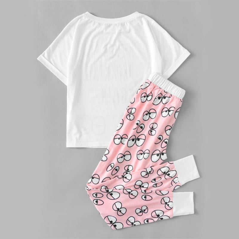 Cute Cartoon Pajama Set - Nikkiaz