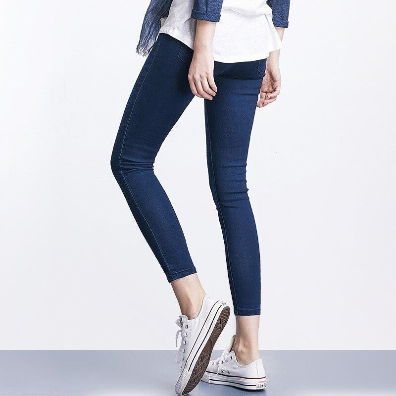 Elastic Waist Jeans For Women - Nikkiaz
