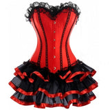 Dancer Dress with Halloween Sexy Underbust Corset - Nikkiaz