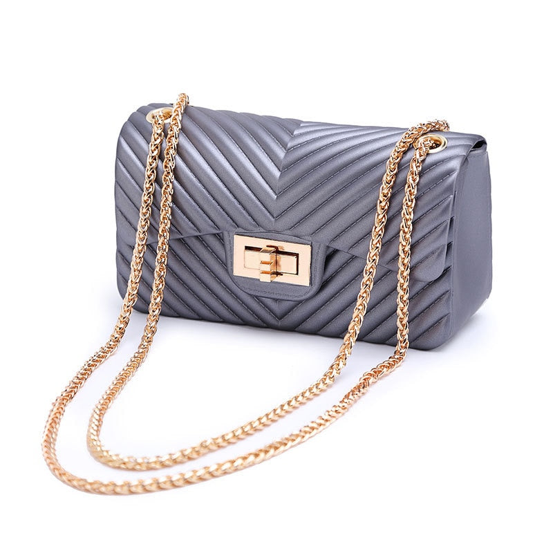 New Handbags Women Frosted Jelly Shoulder Bag - Nikkiaz