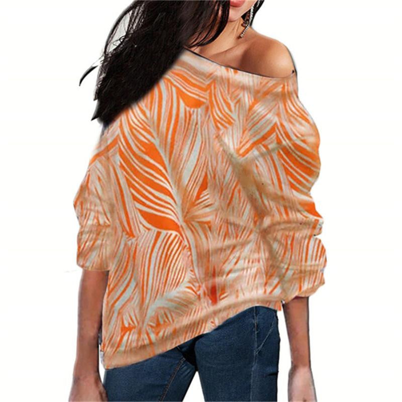 Off Shoulder Striped Print Women Blouse - Nikkiaz