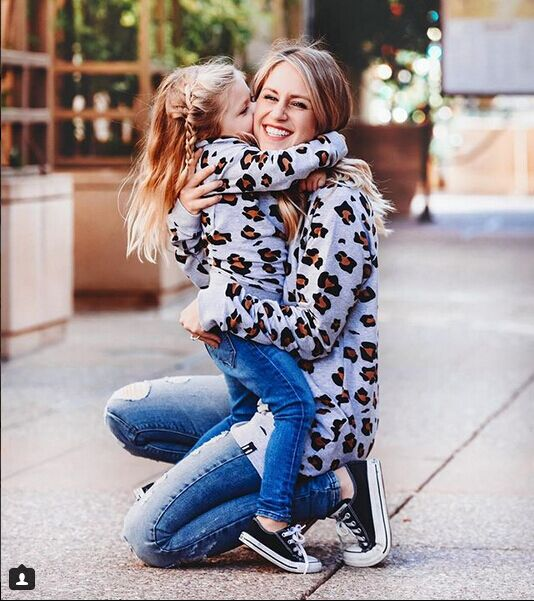 Mother&Daughter Family Matching Women Girl Boys Fashion Autumn Sweatshirt - Nikkiaz