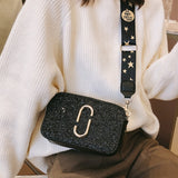 Ladies Sequin Square bag High quality PU Leather Women's Designer Luxury Handbag - Nikkiaz