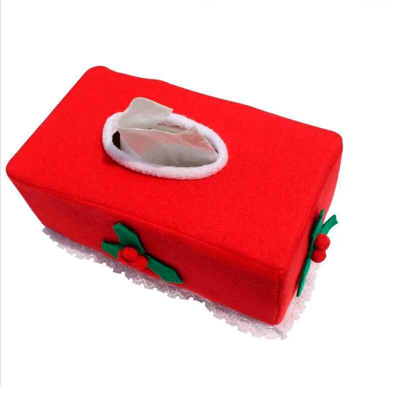 New Belt/Clover Pattern Merry Christmas Tissue Box - Nikkiaz